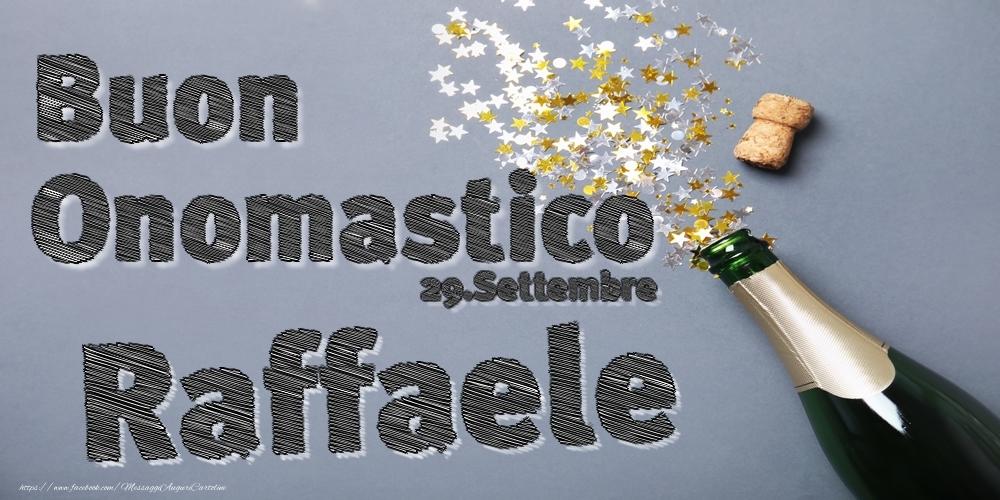 Cartoline di onomastico   29.Settembre - Buon Onomastico Raffaele!