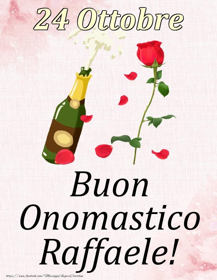 Cartoline di onomastico   Buon Onomastico Raffaele! - 24 Ottobre