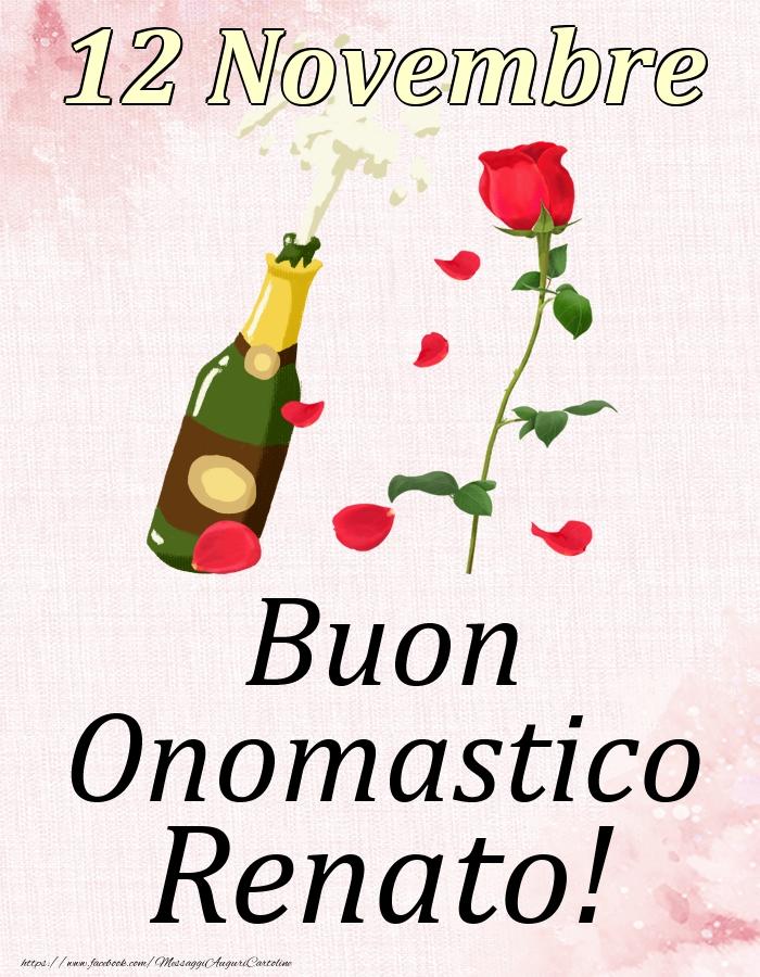 Cartoline di onomastico   Buon Onomastico Renato! - 12 Novembre