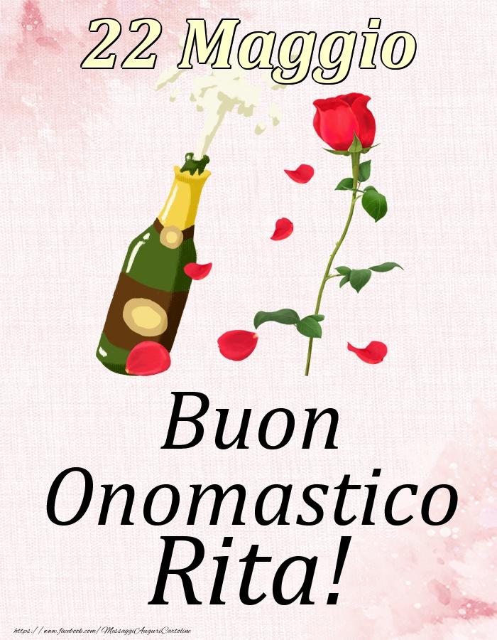 Cartoline di onomastico | Buon Onomastico Rita! - 22 Maggio