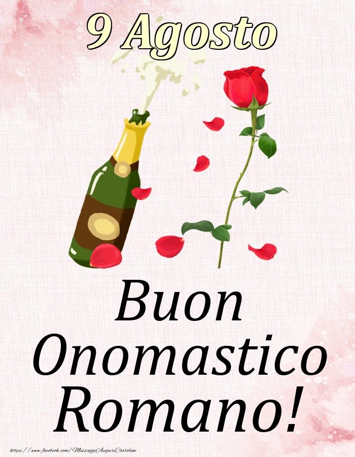 Cartoline di onomastico   Buon Onomastico Romano! - 9 Agosto