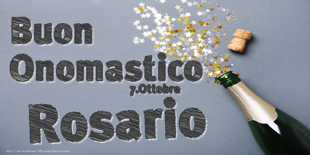 Cartoline di onomastico   7.Ottobre - Buon Onomastico Rosario!