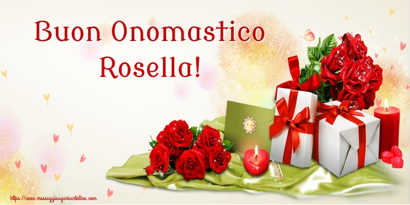 Cartoline di onomastico   Buon Onomastico Rosella!