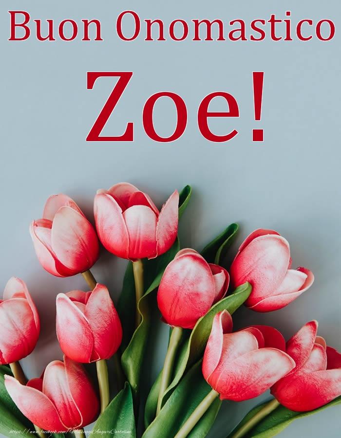 Cartoline di onomastico   Buon Onomastico Zoe!
