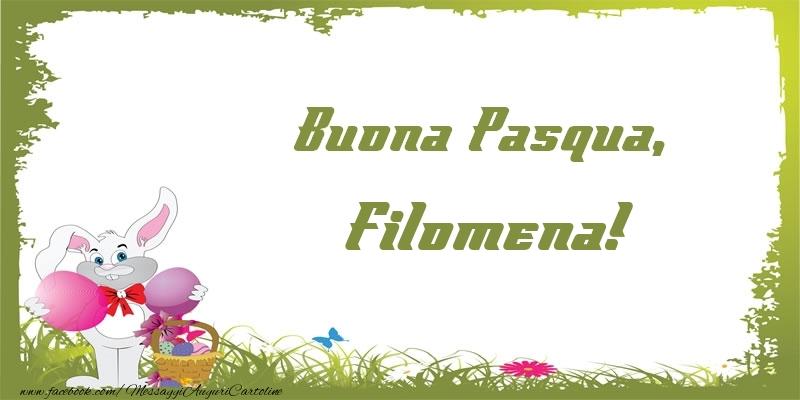 Cartoline di Pasqua | Buona Pasqua, Filomena!