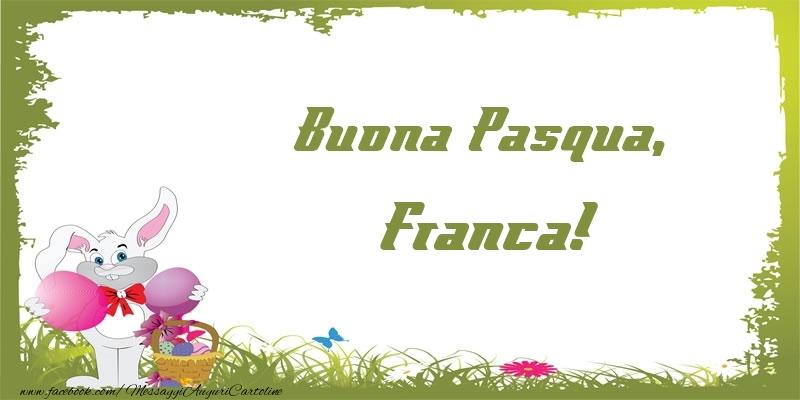 Cartoline di Pasqua | Buona Pasqua, Franca!