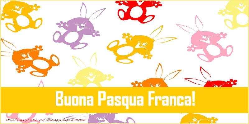 Cartoline di Pasqua | Buona Pasqua Franca!