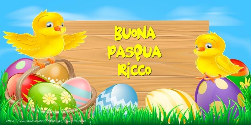 Cartoline di Pasqua | Buona Pasqua Ricco!