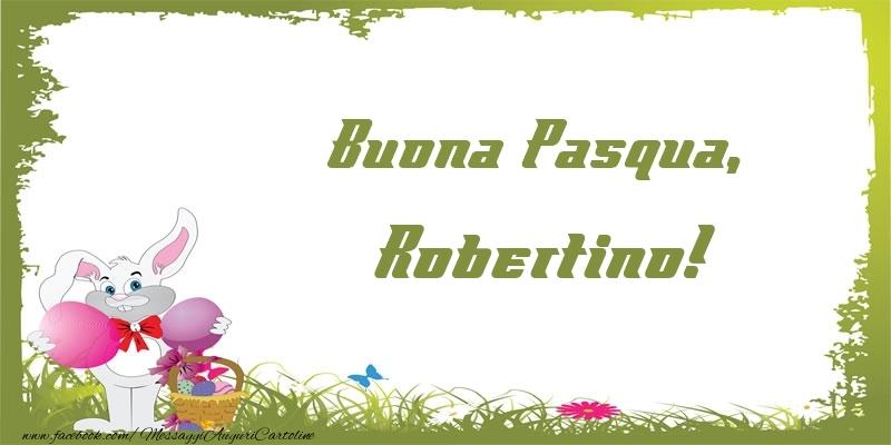 Cartoline di Pasqua   Buona Pasqua, Robertino!