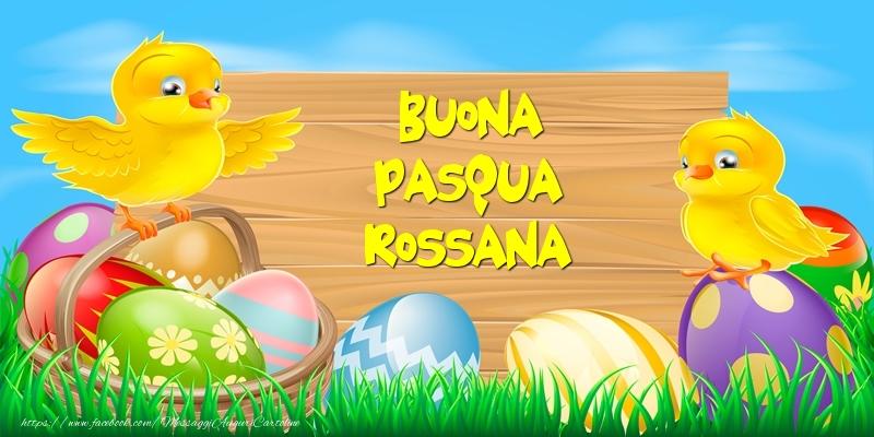 Cartoline di Pasqua | Buona Pasqua Rossana!