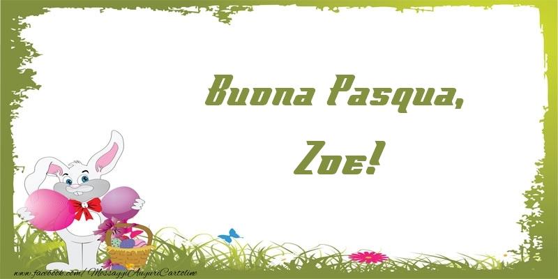 Cartoline di Pasqua   Buona Pasqua, Zoe!