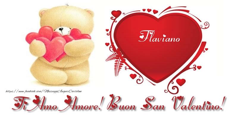 Cartoline di San Valentino | Flaviano nel cuore: Ti Amo Amore! Buon San Valentino!