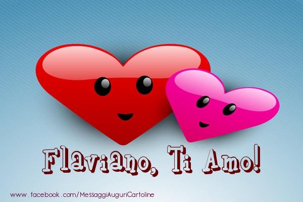 Cartoline di San Valentino | Flaviano, ti amo!