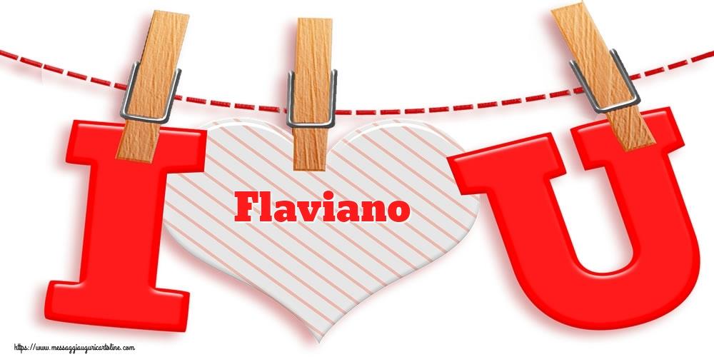 Cartoline di San Valentino | I Love You Flaviano